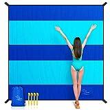 OCOOPA Stranddecke sandfrei super groß 280x300 cm, sanddicht wasserdicht, weiches bequemes...