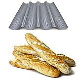 Baguette-Backblech - Antihaft–perforierte Brotplatte - auch für Kekse und Mandelkekse,...