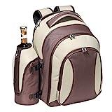 Picknickrucksack für 4 Personen Picknick Komplettset inklusive 21-teiligem Geschirr BPA FREI mit...