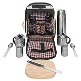 Picknick Picknickrucksack Picknickkorb mit Inhalt für 2 Personen mit Kühlfach 604009