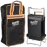 Bruzzzler Klappgrill mit Tragetasche, mobiler Grill klappbar, zum einfachen Transport und...