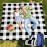 Picknickdecke 200 x 200 cm Picknickdecke Wasserdicht Strandmatte Picknickdecke XXL Outdoor Decke...