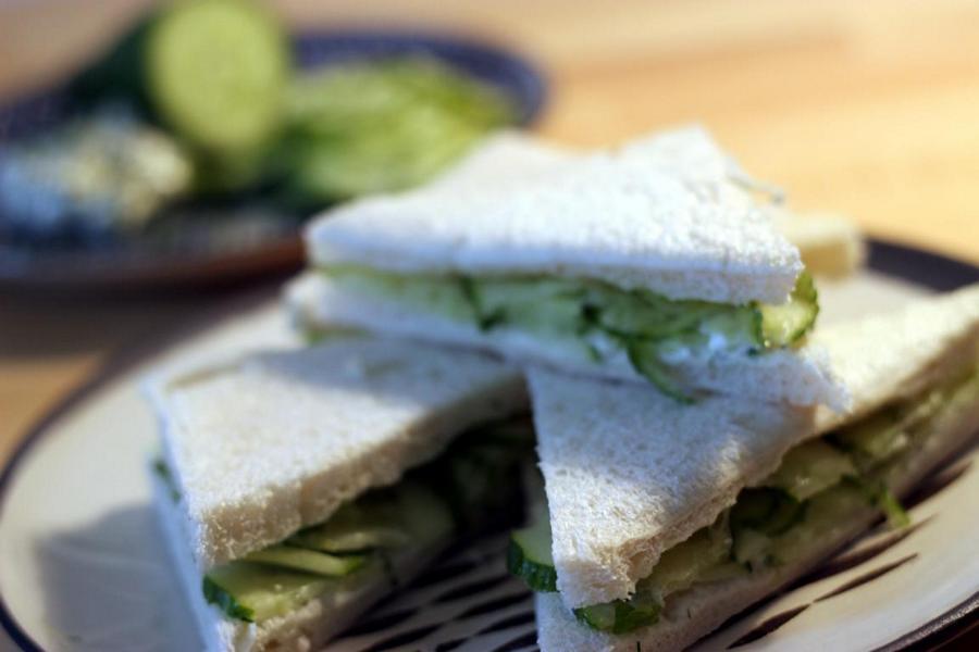 Klassisches Gurkensandwich